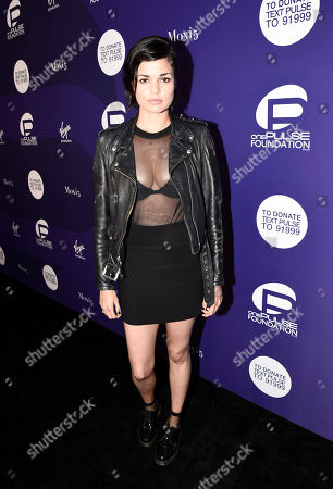 Lina Esco arrives at onePULSE: A Benefit for Orlando at NeueHouse Hollywood, in Los Angeles