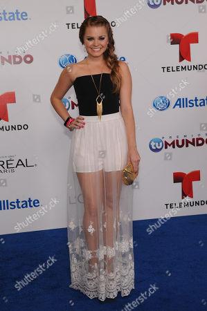 Stock Photo of Ana Osorio attends Telemundo's Premios Tu Mundo Awards at American Airlines Arena on in Miami, Florida