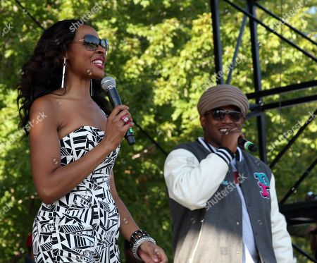 """Janell Snowden and Sway Calloway host Shannon Brown's Wood-Star Music Festival """"Soul in the City"""" on Saturday August, 19, 2012, at Union Park in Chicago, Illinois"""