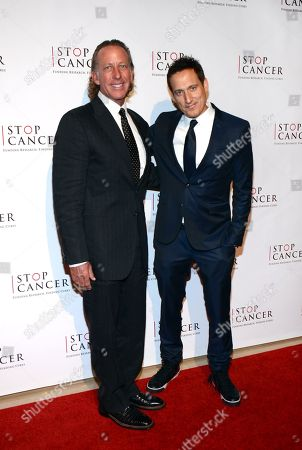 Michael A. Hammer and Elon Gold arrive at Stop Cancer's Annual Gala at the Beverly Hilton Hotel on in Beverly Hills, California