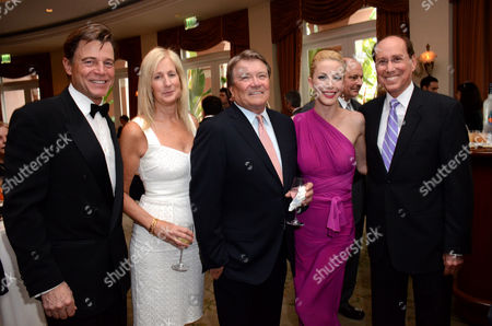 "L-R) Brett Stimely, Jenny Conant, Steve Kroft, Dustin Quick and Academy COO Alan Perris attend the VIP reception at the Academy of Television Arts & Sciences Presents ""The 6th Annual Television Honors"" at the Beverly Hills Hotel on in Beverly Hills, Calif"