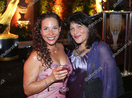 Stock Photo of Marabina Jaimes, left, and Roz Wolf attend the Television Academy's 67th Emmy Performance Peer Group Celebration at the Montage Beverly Hills on in Beverly Hills, Calif