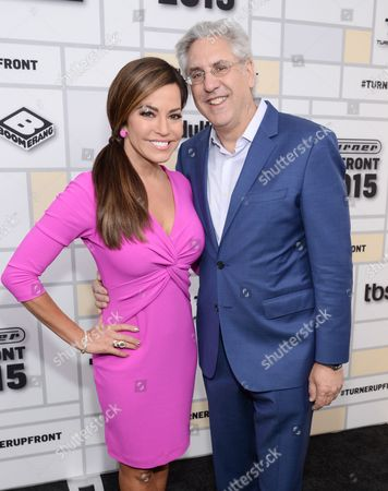 HLN anchor Robin Meade, left, and CEO Albie Hecht attend the Turner Network 2015 Upfront at Madison Square Garden in New York. Hecht has quit as chief executive of the HLN network, leaving the CNN offshoot in search of a new boss. echt, a former executive at Spike and Nickelodeon, joined the former Headline News two years ago to guide the network in the direction of being a social media hub