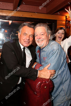 From left, Ray Wise, Russ Tamblyn and Amber Tamblyn at the Bigfoot Lodge for the after party celebrating the forthcoming Blu-ray Disc release of Twin Peaks: The Entire Mystery, in Los Angeles