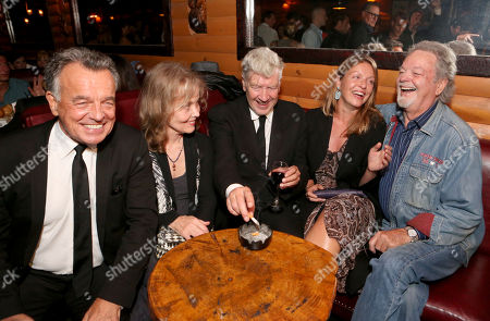 David Lynch joins Twin Peaks cast members Ray Wise, Grace Zabriskie, Sheryl Lee and Russ Tamblyn at the Bigfoot Lodge for the after party celebrating the forthcoming Blu-ray Disc release of Twin Peaks: The Entire Mystery, in Los Angeles