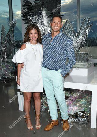 Stock Picture of W Hotels Worldwide Director of Brand Marketing, North America, Suzanne Cohen and Global Brand Leader, Anthony Ingham, attend an opening celebration party for the W Dubai Hotel in Al Habtoor City, at Glasshouses, in New York