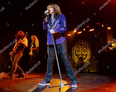 Michael Devin, Joel Hoekstra and David Coverdale of Whitesnake perform at the Hard Rock Live at Seminole Hard Rock Hotel & Casino on Thursday, Aug. 6, 2015 in Hollywood, Fla