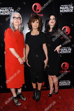"Director Laurie Collyer, from left, actress Susan Sarandon, and executive producer Keri Selig arrive at the World Premiere of ""The Secret Life of Marilyn Monroe"" held at The Theatre at Ace Hotel, in Los Angeles"