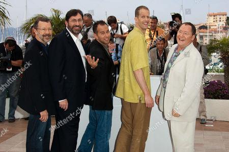 Ed Catmull, Bob Petersen, Jonas Rivera, Pete Docter, John Lasseter