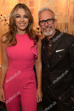 Elizabeth Hurley and Patrick Cox