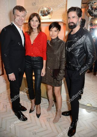 Stock Picture of Pierre Denis, Alexa Chung, Sandra Choi and Jack Guinness
