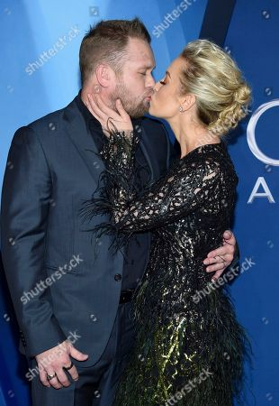Kellie Pickler, Kyle Jacobs. Kellie Pickler, right, kisses Kyle Jacobs as they arrive at the 51st annual CMA Awards, in Nashville, Tenn
