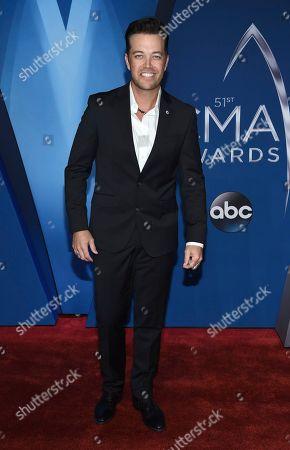 Lucas Hoge arrives at the 51st annual CMA Awards, in Nashville, Tenn