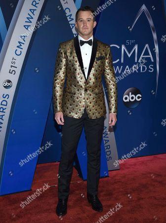 Easton Corbin arrives at the 51st annual CMA Awards, in Nashville, Tenn