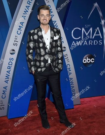 Chase Bryant arrives at the 51st annual CMA Awards, in Nashville, Tenn
