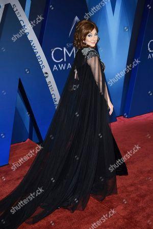 Pam Tillis arrives at the 51st annual CMA Awards, in Nashville, Tenn