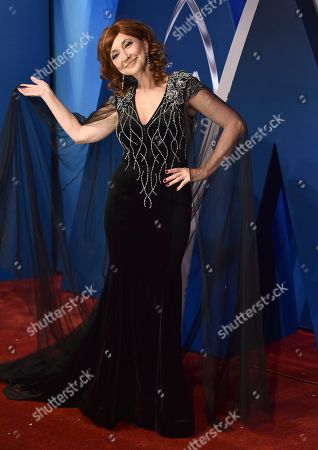 Stock Picture of Pam Tillis arrives at the 51st annual CMA Awards, in Nashville, Tenn