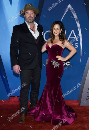 Lee Brice, Sara Reeveley. Lee Brice, left, and Sara Reeveley arrive at the 51st annual CMA Awards, in Nashville, Tenn