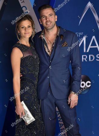TK McKamy, Marielle Jaffe. TK McKamy, right, and Marielle Jaffe arrivesat the 51st annual CMA Awards, in Nashville, Tenn