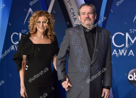 Laura Savini, Jimmy Webb. Laura Savini, left, and Jimmy Webb arrive at the 51st annual CMA Awards, in Nashville, Tenn