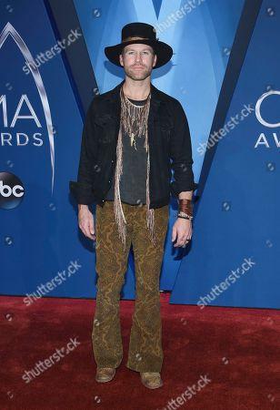 Drake White arrives at the 51st annual CMA Awards, in Nashville, Tenn