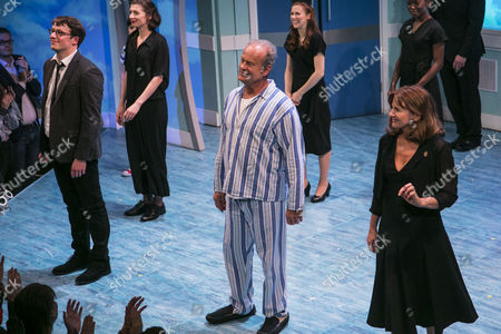 Stock Photo of Matt Seadon-Young (Will Bloom), Kelsey Grammer (Edward Bloom) and Clare Burt (Sandra Bloom) during the curtain call