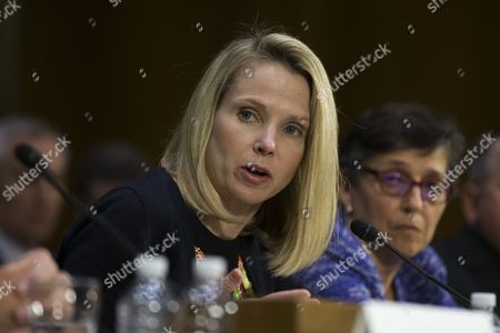 Marissa Mayer, the former Chief Executive Officer of Yahoo, during a hearing entitled 'Protecting Consumers in the Era of Major Data Breaches' before the Senate Commerce, Science, and Transportation Committee on Capitol Hill in Washington, D.C. on November 8th, 2017.