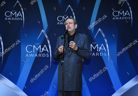 Stock Image of Songwriter and musician Jimmy Webb speaks in the press room at the 51st annual CMA Awards at the Bridgestone Arena, in Nashville, Tenn