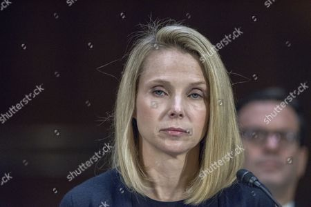 Marissa Mayer, former CEO of Yahoo tesifies at a Congressional hearing on Consumer date breach.