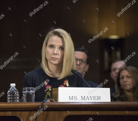 Marissa Mayer, former CEO of Yahoo, testifies at a Congressional hearing on Consumer date breach. Also testifying will be a witness with expertise on protecting financial data.