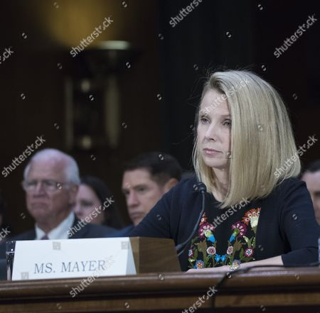 Marissa Mayer, former CEO of Yahoo testifies at a Congressional hearing on Consumer date breach.