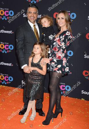 Jaime Camil, wife Heidi Balvanera and kids