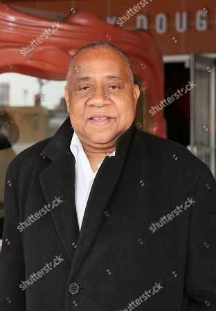 """Actor Barry Shabaka Henley poses during the arrivals for the opening night performance of """"The Royale"""" at Center Theatre Group's Kirk Douglas Theatre, in Culver City, Calif"""