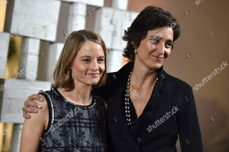 Stock Image of Jodie Foster, left, and Alexandra Hedison attend the 14th Annual Hammer Museum Gala in the Garden on in Los Angeles