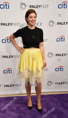 """Stock Photo of Bianca Kajlich, a cast member in the television series """"Undateable"""", poses at the 2015 PaleyFest Fall TV Previews at The Paley Center for Media, in Beverly Hills, Calif"""