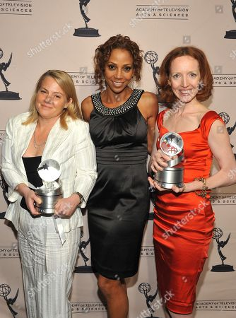 "MAY 5: (L-R) Executive producer Jenny Bicks, actress Holly Robinson Peete and creator ""The Big C"" Darlene Hunt backstage at the Academy Of Television Arts & Sciences Presents ""The 4th Annual Television Academy Honors"" at the Beverly Hills Hotel, in Beverly Hills, California"