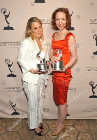 "MAY 5: (L-R) Executive producer Jenny Bicks and creator ""The Big C"" Darlene Hunt backstage at the Academy Of Television Arts & Sciences Presents ""The 4th Annual Television Academy Honors"" at the Beverly Hills Hotel, in Beverly Hills, California"