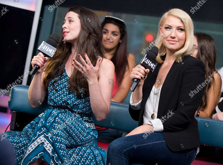 Editorial image of Ari Graynor, Lauren Anne Miller and Victoria Duffield Visit New.Music.Live. - 23 Aug 2012