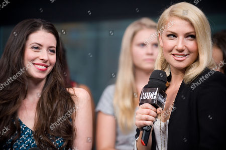 """Stock Photo of Actresses Lauren Anne Miller, left, and Ari Graynor visit New.Music.Live. to promote their movie """"For a Good Time, Callâ?¦"""" at the MuchMusic HQ, in Toronto"""