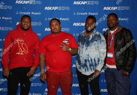 "L-R) Producers Boi-1da, DJ Mustard, DJ Camper and S1 participate in the ""Urban Hitmakers: Maestros of Modern Music"" panel at the 8th Annual ASCAP ""I Create Music"" EXPO, on in Hollywood, California"