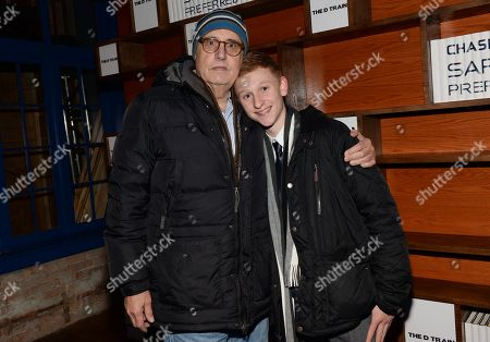 "Actors Jeffrey Tambor, left, and Russell Posner attend ""The D Train"" cast party hosted by Chase Sapphire Preferred during the Sundance Film Festival on in Park City, Utah"