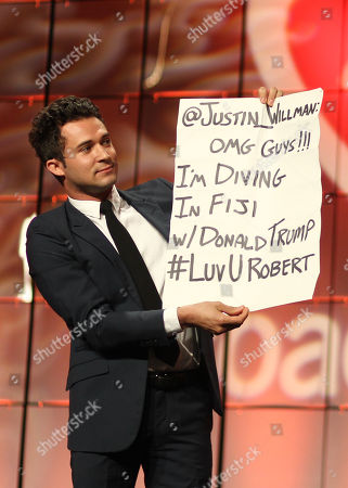 Justin Willman onstage at the CoachArt Gala of Champions held at The Beverly Hilton, in Beverly Hills, Calif