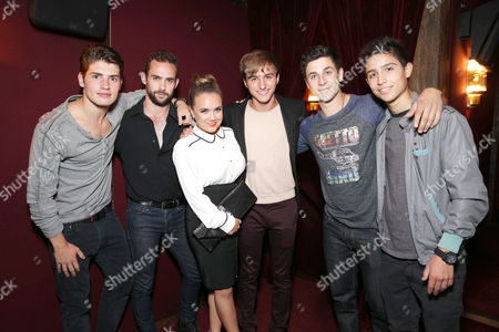 Gregg Sulkin, Dominic Riccitello, Jennifer Veal, Lucas Cruikshank, David Henrie and Lorenzo Henrie at Columbia Pictures' 'White House Down' Special Screening, on in Los Angeles
