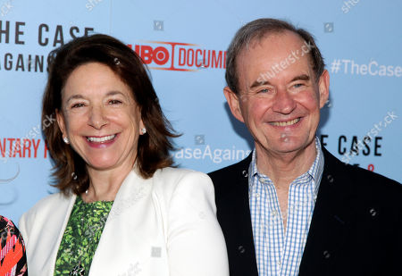 """Attorneys Mary Boies, left, and David Boies, right, attend a screening of """"The Case Against 8"""", in New York"""