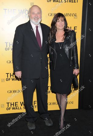 """Actor Rob Reiner and wife Michele Singer attend the premiere of """"The Wolf of Wall Street"""" at the Ziegfeld Theatre, in New York"""