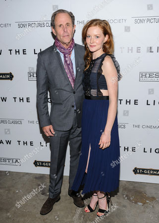 """Marc Abraham and Wrenn Schmidt attend special screening party for """"Born To Be Blue"""" at the Blue Note Jazz Club, in New York"""