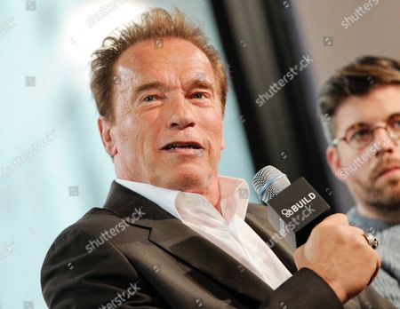 Actor Arnold Schwarzenegger participates in AOL's BUILD Speaker Series in New York. Schwarzenegger's affair with his longtime housekeeper became public after the former California governor and Maria Shriver announced their divorce. Mildred Baena spoke in 2011 about the affair, including disclosing that her son, Joseph Baena, is Schwarzenegger's son