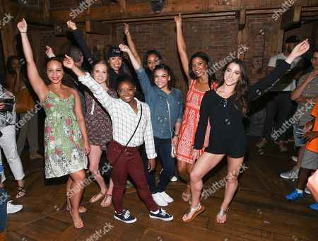 "Editorial picture of The Final Five Visit ""Hamilton"" on Broadway, New York, USA - 23 Aug 2016"