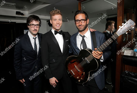 Adam Busch, Barrett Foa and Eric Kufs backstage at the National Breast Cancer Coalition Fund's 13th Annual Les Girls on in Hollywood, Calif