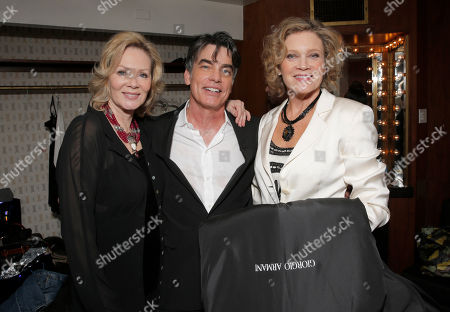 Jean Smart, Peter Gallagher and Deborah May backstage at the National Breast Cancer Coalition Fund's 13th Annual Les Girls on in Hollywood, Calif